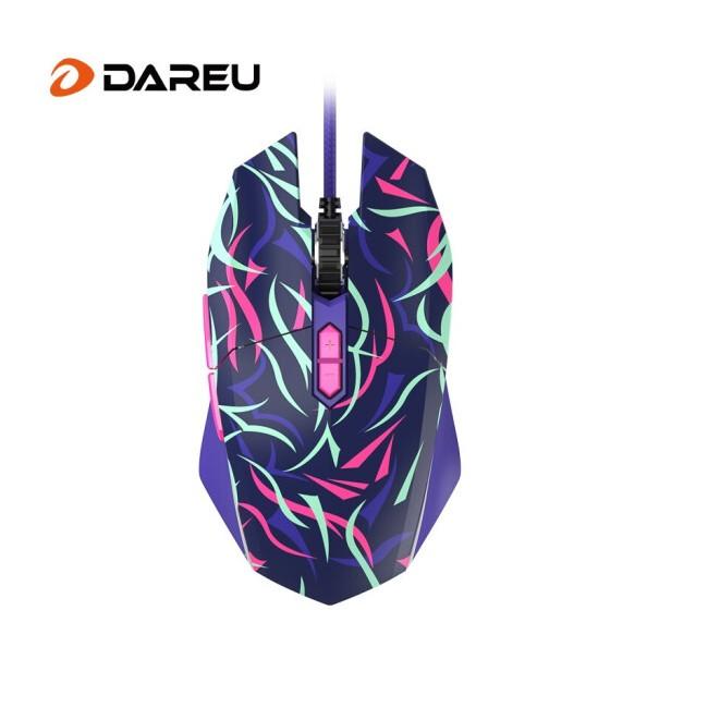 达尔优EM910荆棘版荆棘紫鼠标3000W 次微动开关 电竞玩家的选择
