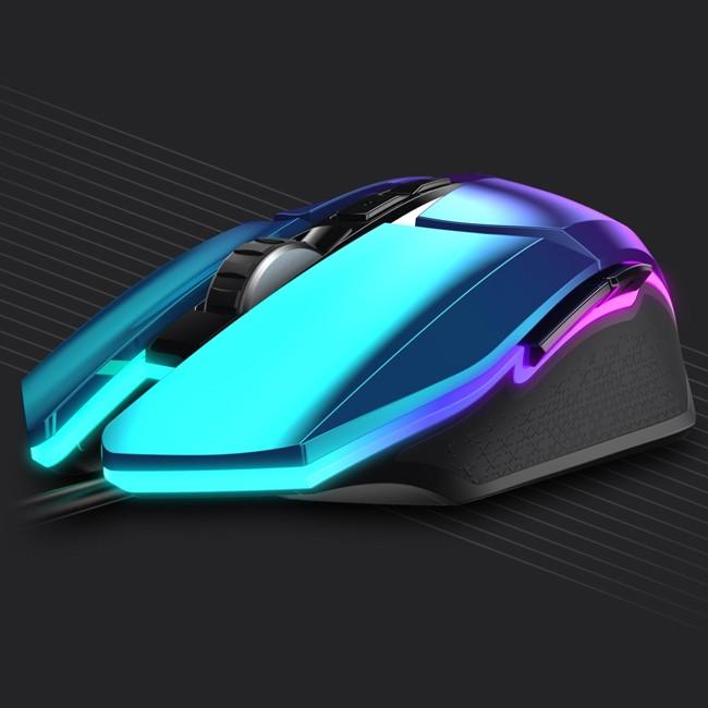 达尔优牧马人鼠标CM655游戏电竞绝地求生lol台式有线电脑家用办公