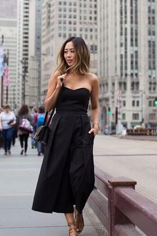2017时尚流行趋势 九分连体裤时髦搭配