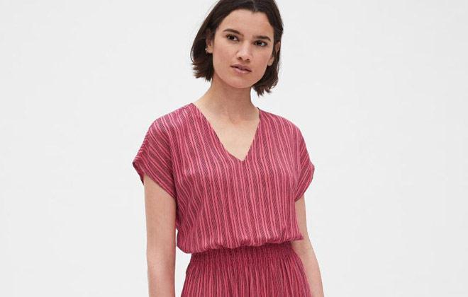 GAP(盖璞)北京福彩3D开奖 短袖连衣裙新款上市