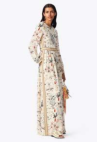 需要一条优雅连衣裙时 PRLNTED SILK MAKI陪看日落日出