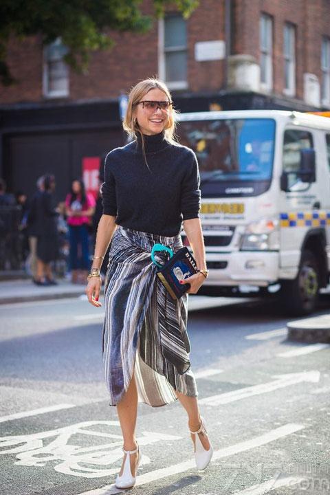 女人穿什么衣服有气质街拍示范-女人穿什么衣服有气质 极简风造就特图片