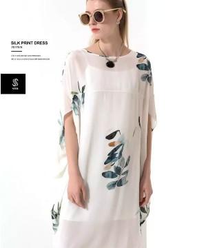 随风而起的高雅情怀 真丝印花连衣裙Silk print dress