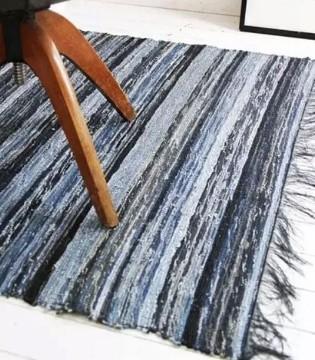 致兴纺织 旧牛仔改造成地毯 美观个性又实用