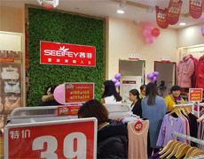 热烈祝贺茜菲内衣在广西平果店盛大开业