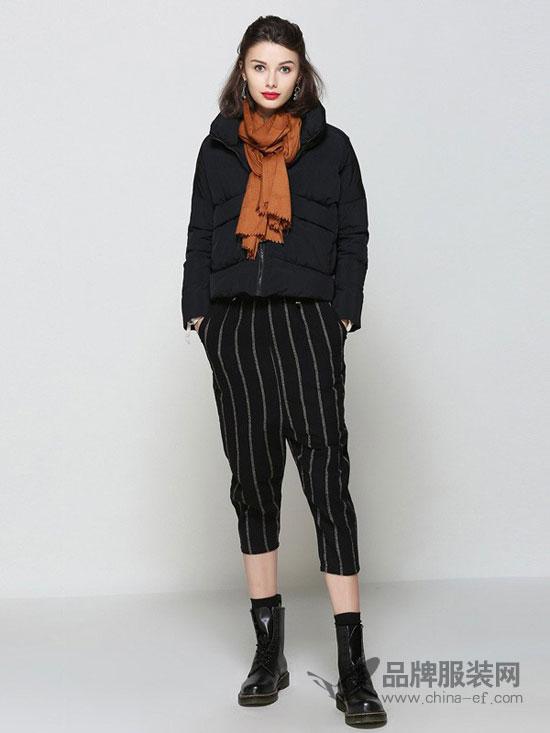 羽绒服,围巾,休闲裤