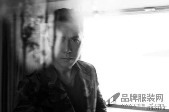 知名打星甄子丹登香港杂志《PRESTIGE》新刊封面