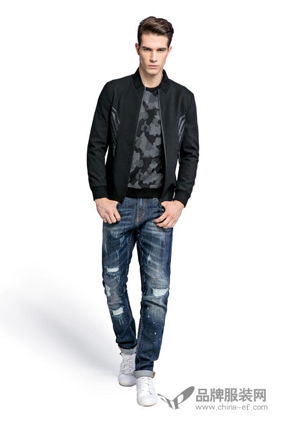 夹克,毛衣,牛仔裤