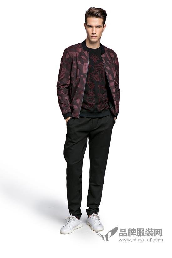 夹克,毛衣,休闲裤