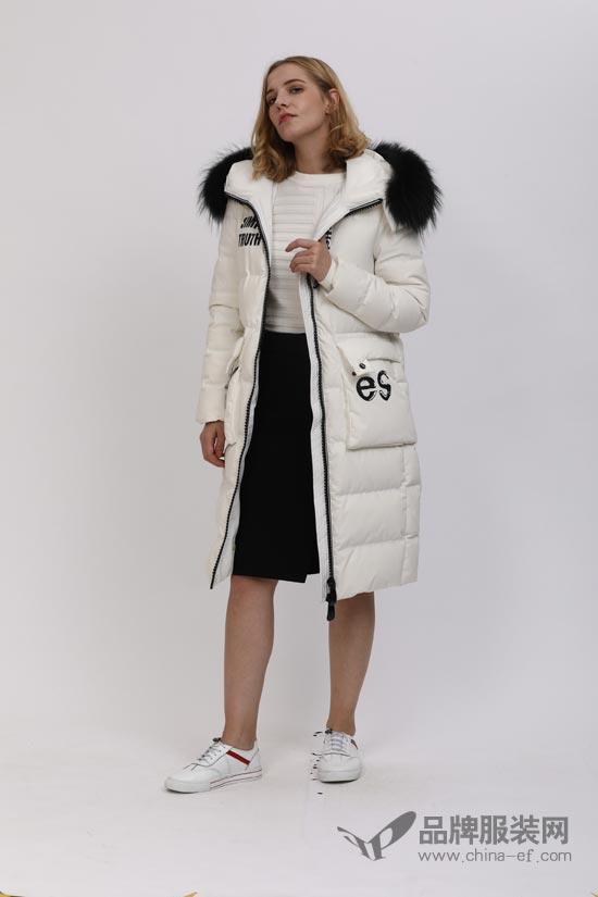 乔帛品牌女装 时尚不落俗 羽绒大衣该这样穿