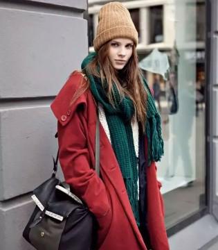 饰典 冬日穿搭 大衣+围巾=美丽不冻人