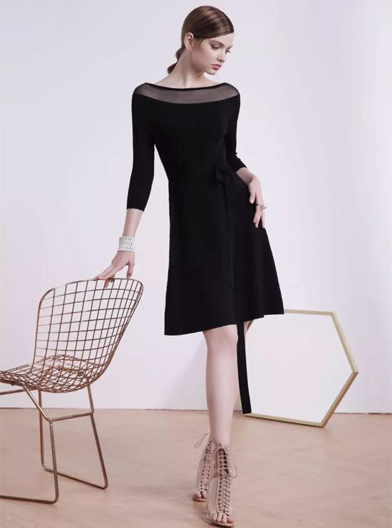 红贝缇春季新品 每个优雅女人都有一条小黑裙