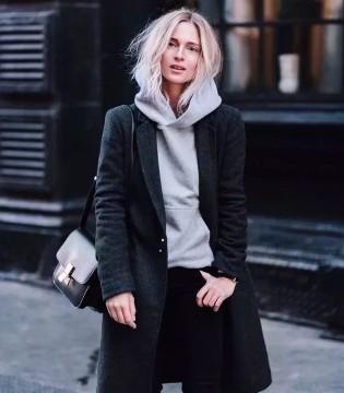 春美多 卫衣+大衣才是2018最时髦的搭配 好看爆了