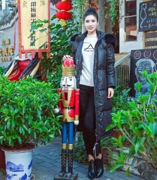 武汉惠品 穿优美大衣 搭讪文艺小镇
