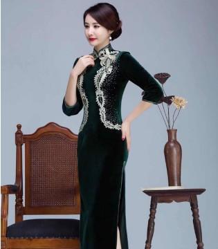 东方贵族雅韵旗袍 风情摇曳 凸显女性华丽贵族的一面