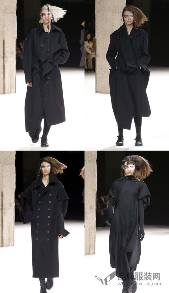 Yohji Yamamoto 2018秋冬大秀 立体而超现实的黑色浪漫