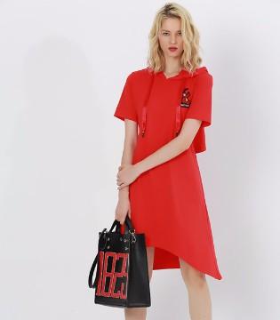 例格春夏女装新品 街头时髦范的T恤裙就是帅气