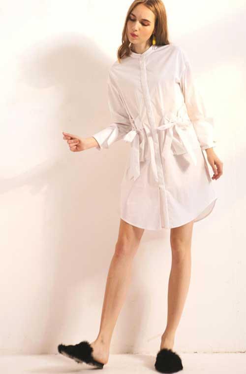 衣橱必备白衬衫 穿上Saslax女装留下优雅的样子