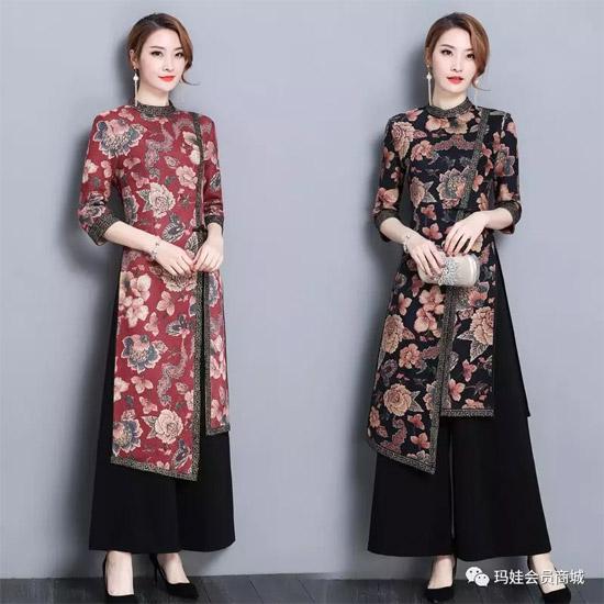 玛娃 岁月芳华心流盼 旗袍秀起时尚风