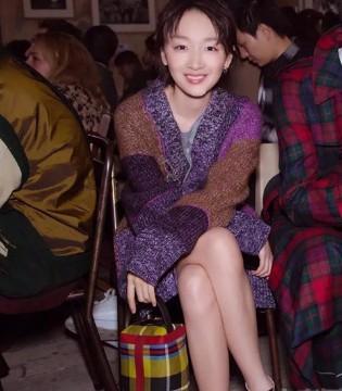 周冬雨的复古时尚 秀出了压箱底针织衫