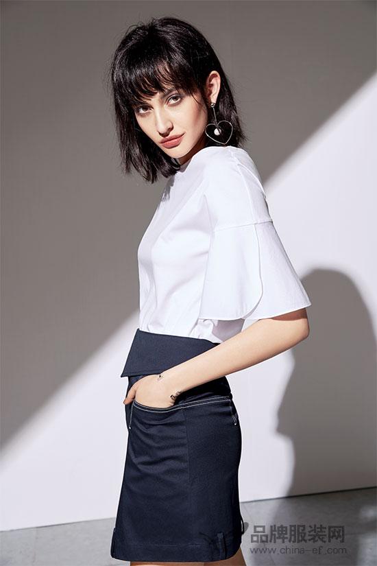 """""""SN""""黑白色优雅搭配 让你轻松走在时尚的潮流前沿"""