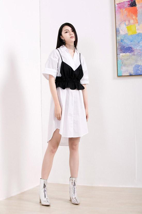 衬衫裙这么穿时髦又显瘦 丹比奴时尚女装让你比花还美
