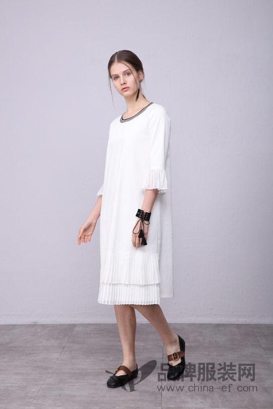 子容女装 夏季白色连衣裙 像凯特王妃一样优雅