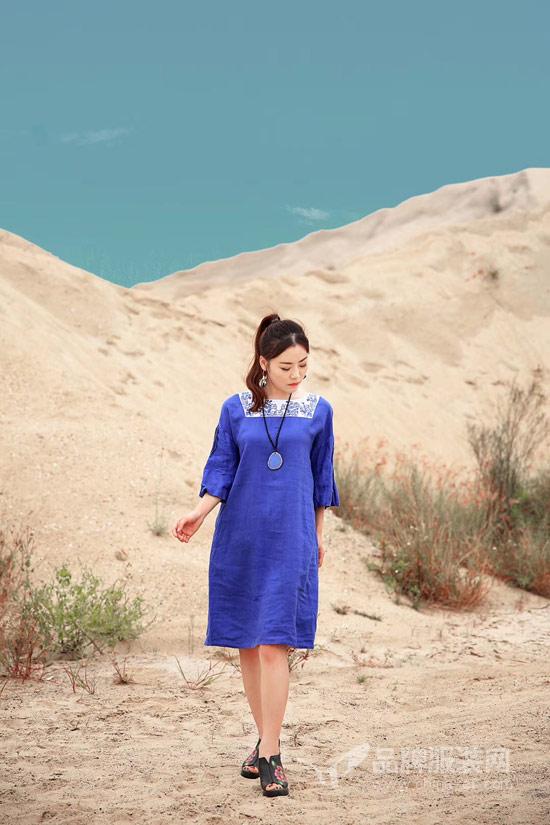 做一个自然的人 轻中式曼茜纱棉麻女装静待花开