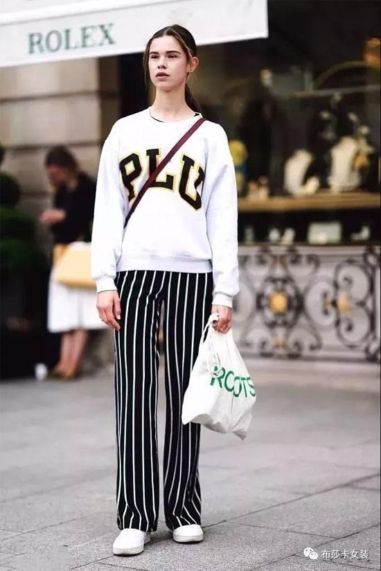 布莎卡女装 阔腿裤依然是好看又百搭的裤装首选
