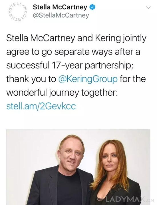 回归独立运营 Stella McCartney被开云集团剥离