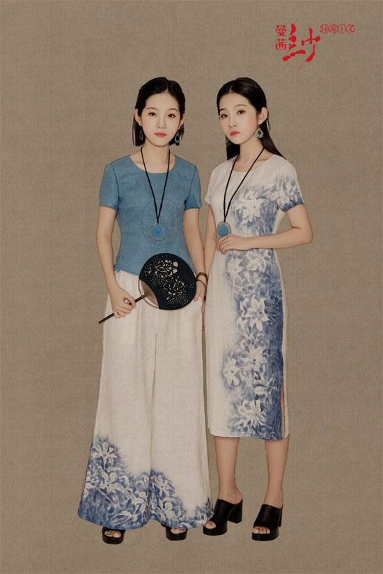 曼茜纱品牌女装2018夏装新品上新 罂粟蓝色系