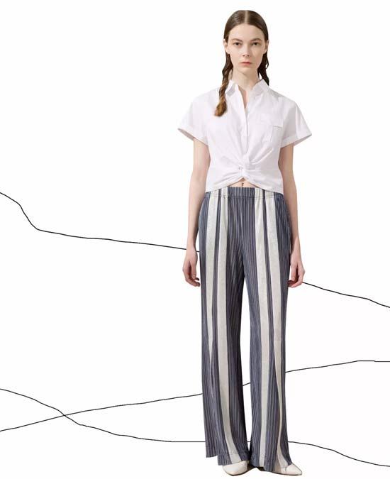 HPLY品牌女装的条纹这样穿 只会让你更瘦!