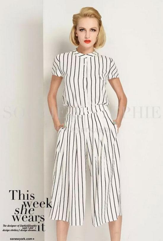 条纹装要这么穿才会显瘦 让你轻松瘦如纸片人!