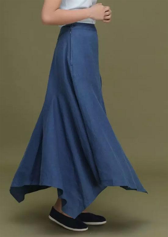 三时一默品牌女装夏新品 板蓝根染麻