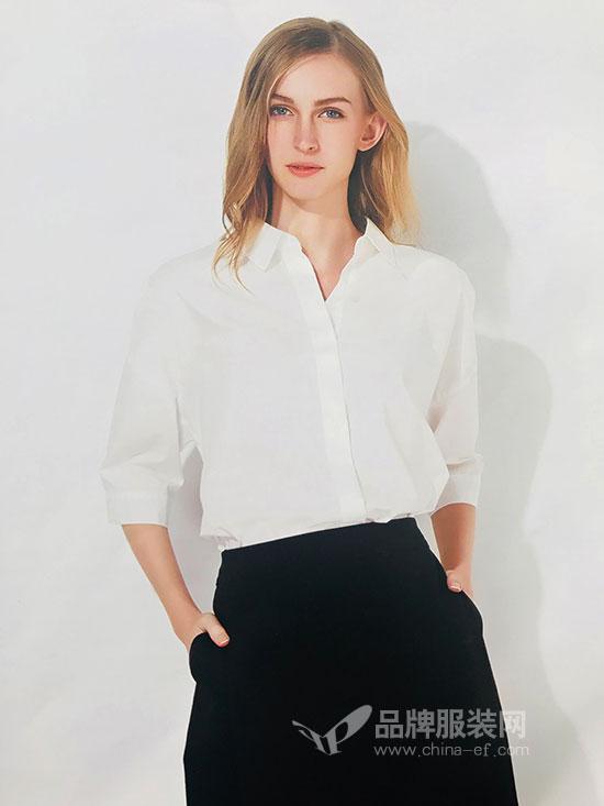 极简黑白衬衫 U-REETY你即永恒2018夏季新款