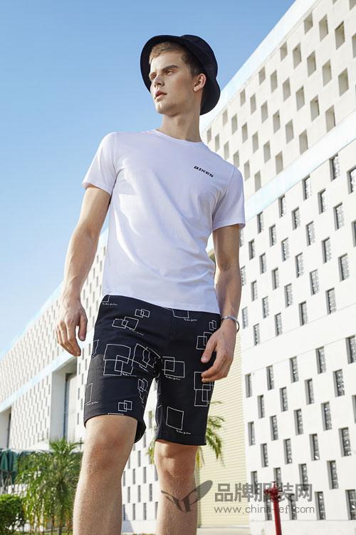 男士T恤搭配技巧 莎斯莱思2018夏季男装新款