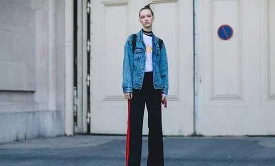 """埃芙衣""""时尚头条""""T恤搭配阔腿裤 是显瘦遮肉的最深套路"""
