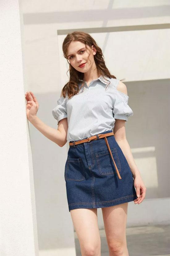 金蝶茜妮品牌女装 夏天必备的短裤经典搭配