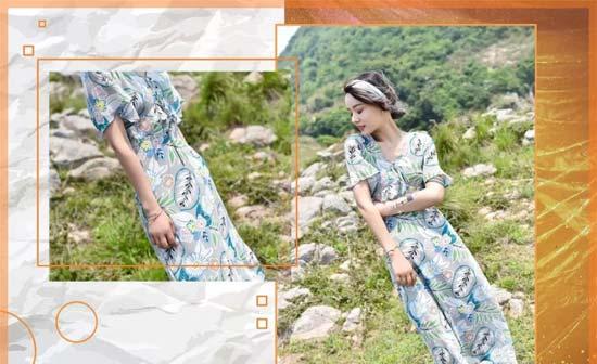 布莎卡女装初夏新品 连衣裙与印花的邂逅