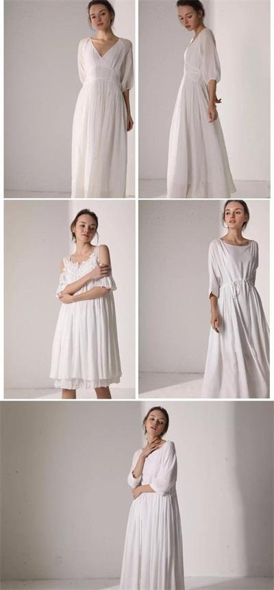 Famcoco范可儿品牌女装白裙轻舞 梦中的夏天