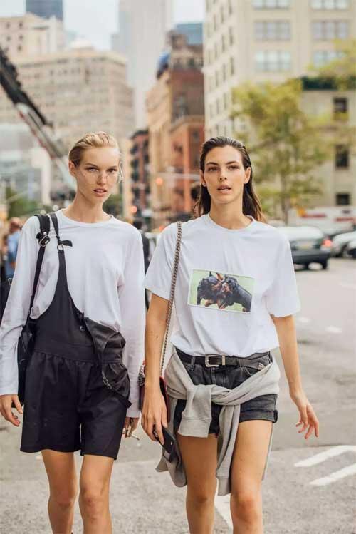 一件T恤的20种穿法 让你美爆整个春夏!
