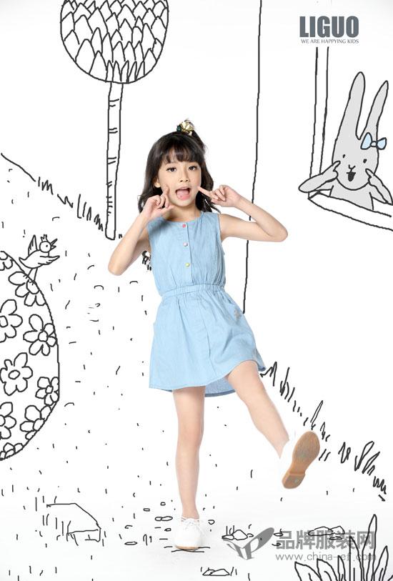 力果LIGUO童装新品连衣裙 给孩子一个舒适的夏天