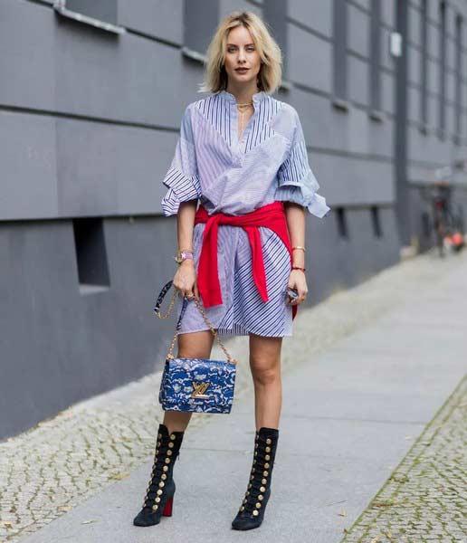 聚多品:时髦又百变 衬衫裙凹造型从不敷衍