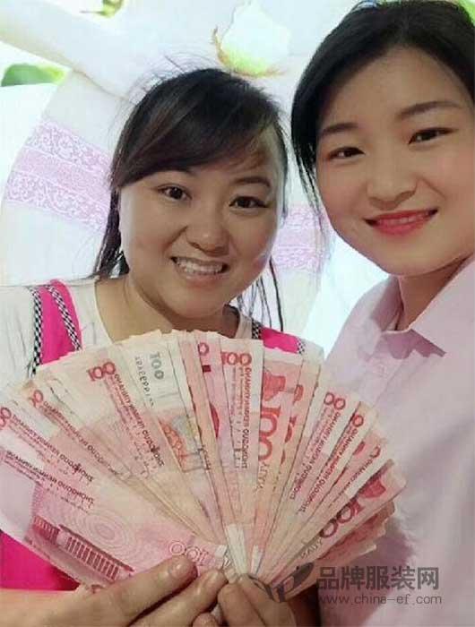恭喜玫瑰春天常德陈姐商场店开业大吉 业绩高达9760元!