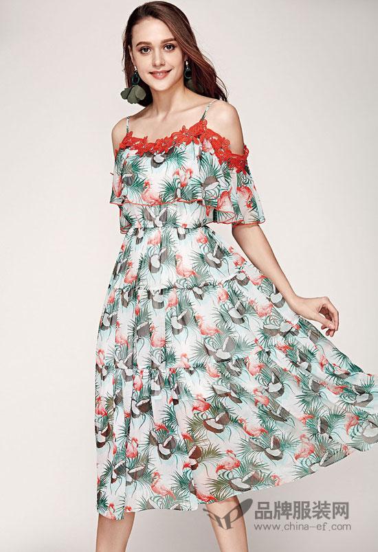 印花浪漫的花颜悦色  让你缤纷一夏