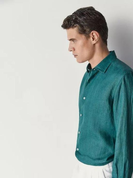 新申亚麻大师 把亚麻衬衫穿得好看的 都是男神