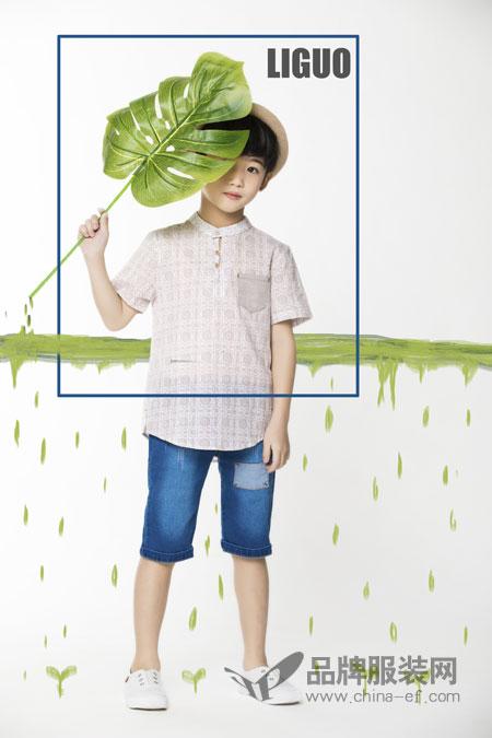 力果品牌童装 夏季新款秒变时尚小型男