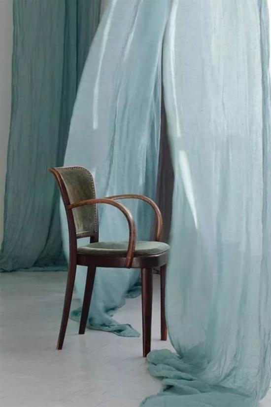 新申亚麻大师 灰绿色亚麻 让空间恬淡充盈