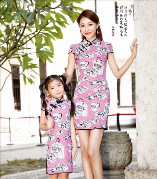 唐雅阁的时尚旗袍新创意  女孩和妈妈百穿不厌的亲子装