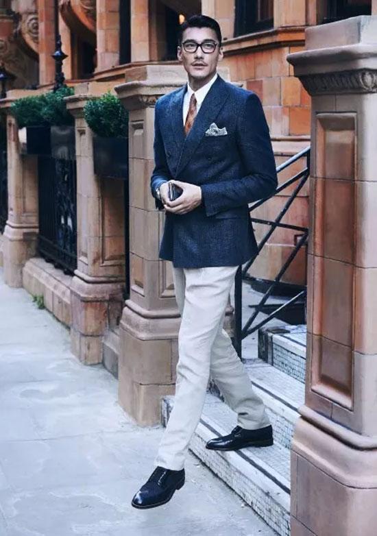 """打败贝克汉姆 秒杀小生 """"高级脸""""胡兵教你穿出英伦绅士"""
